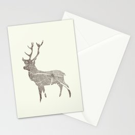 Wood Grain Stag Stationery Cards