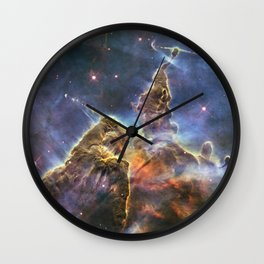 carina carina and her fuzzy psychedelia | space #12 Wall Clock
