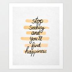 Seeking Happiness Art Print