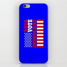 Vote Democrat  iPhone & iPod Skin