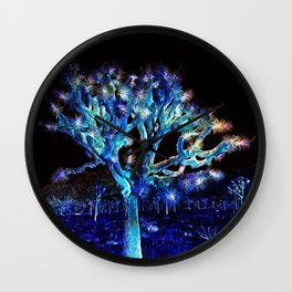 Joshua Tree VG Hues by CREYES Wall Clock
