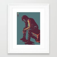 winter soldier Framed Art Prints featuring Winter Soldier by ASILLU