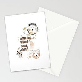 Coffee and Tea and Cocoa, Oh My! Stationery Cards