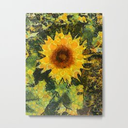 you can't have enought sunflowers Metal Print