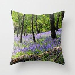 Bluebell Wood. Throw Pillow