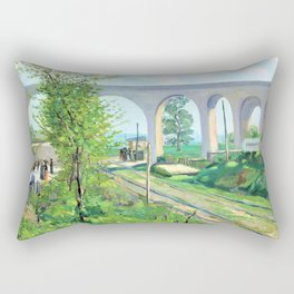 Armand Guillaumin - The Arcueil Aqueduct at Sceaux Railroad Crossing - Digital Remastered Edition Rectangular Pillow