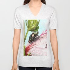 Fly on a flower 15 Unisex V-Neck