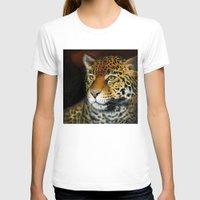 jaguar T-shirts featuring Jaguar by Claudia Hahn