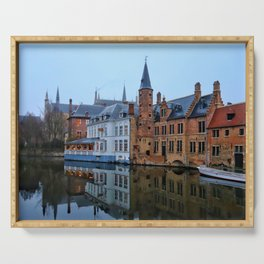 Belgium, City Canal 8 Serving Tray