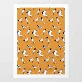 Bird Print - Orange Art Print