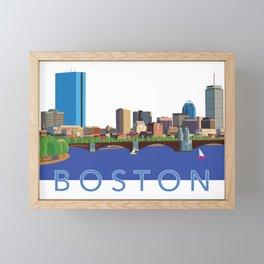 Back Bay Boston Skyline Framed Mini Art Print