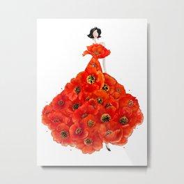 Fashion poppies Metal Print