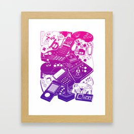 Joysticks & Controllers II Framed Art Print