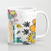 running Mugs featuring ALWAYS LOOK ON THE BRIGHT SIDE... by Matthew Taylor Wilson