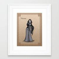 valar morghulis Framed Art Prints featuring Nienna by wolfanita