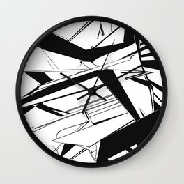 History of Art in Black and White. Futurism Wall Clock