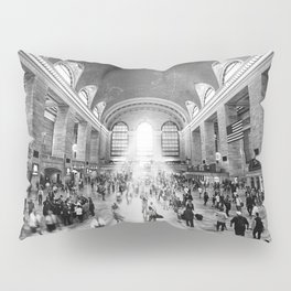 Grand Central Daylight (classic black & white edition) Pillow Sham