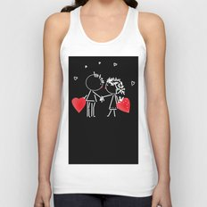 Love Valentine's Day. Wedding. Unisex Tank Top