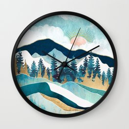 Summer Forest Wall Clock