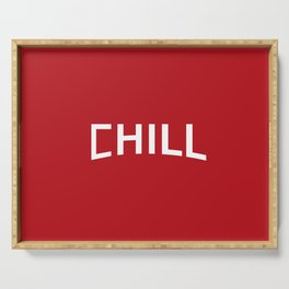 Red Chill Serving Tray