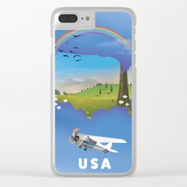 USA map. Clear iPhone Case