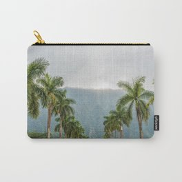 Hawaii Palm Tree Road In Fog Carry-All Pouch