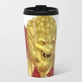 Golden Japanese Foo Dog Travel Mug