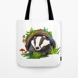 Badger and Bluebells Tote Bag