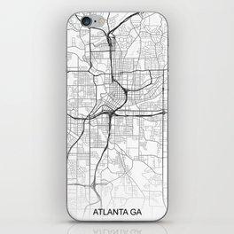 Atlanta GA Map White USA iPhone Skin