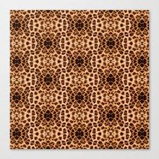 Leopard Print Kaleidoscope Abstract Canvas Print