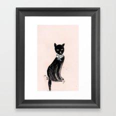 Spoiled Kitty Lifestyle Illustration Framed Art Print