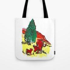 Big moo, wee moo (colored version) Tote Bag
