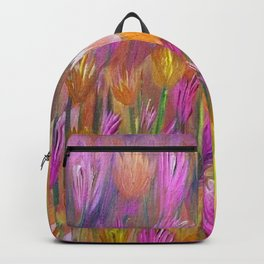 Field of Flowers in Yellow and Pink Backpack