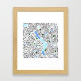 Infinite City - Winter Framed Art Print