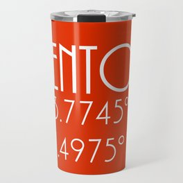 Menton Latitude Longitude Travel Mug