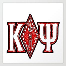 Kappa Alpha Psi Diamond Bandana Design Art Print