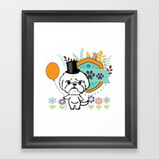 Bubbly is mad Framed Art Print