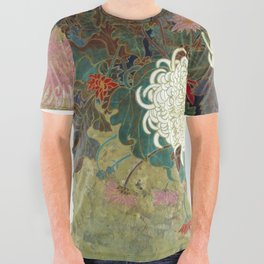 flower【Japanese painting】 All Over Graphic Tee