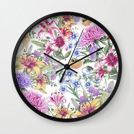 FLORAL WATERCOLOR 10 Wall Clock
