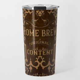 D20 Home Brew Content Creator Aged Label Travel Mug