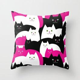 Fat Cats Throw Pillow