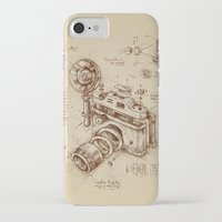 brown iPhone & iPod Cases featuring Moment Catcher by Enkel Dika