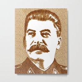Scrabble Joseph Stalin Metal Print