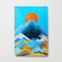 Ocean Peaks Metal Print