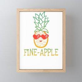 Funny Pun Fine Apple Pineapple Framed Mini Art Print