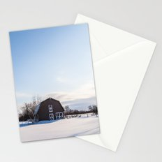 Winter Barn Stationery Cards