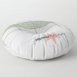 Parks of Chicago: Midway Plaisance Floor Pillow
