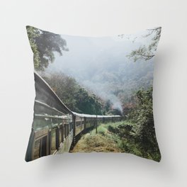 Train Rides in Sri Lanka Throw Pillow