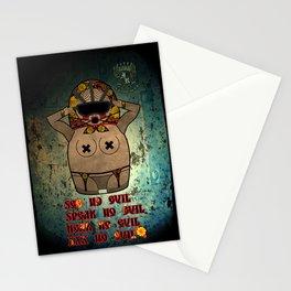 Speak/See/Hear/XXX  No Evil Matryoshka Stationery Cards