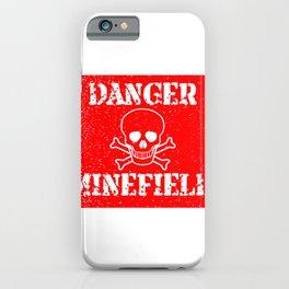 Danger Minefield iPhone Case
